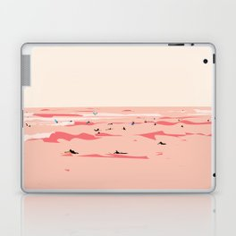 Sunset Tiny Surfers in Lima Illustrated Laptop & iPad Skin