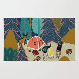Welcome to Our Place in the Woods Rug
