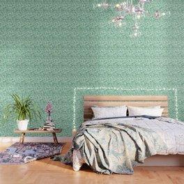 Muddled Puddles Pale Aqua Ocean Patchwork Wallpaper