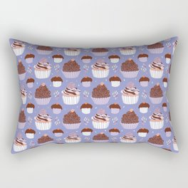 Baked Cupcakes Food Vector Pattern Rectangular Pillow