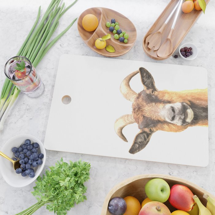 Goat Portrait Cutting Board
