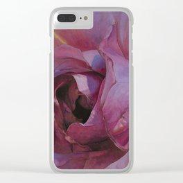 Floribunda Rose - Original Pink Clear iPhone Case
