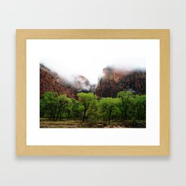 Mountain Layers Framed Art Print