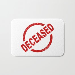 Deceased Stamp Bath Mat