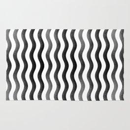 #027 falling zen black lines Rug