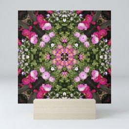 Gerbera And Ranunculus Kaleidoscope Mini Art Print