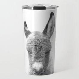 Black and White Baby Donkey Travel Mug