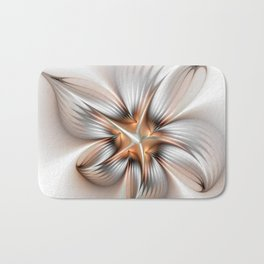 Elegance of a Flower, modern Fractal Art Bath Mat