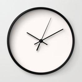Coconut Butter Wall Clock