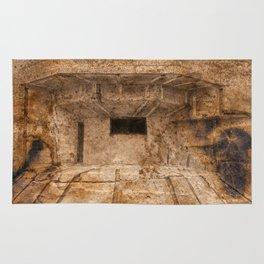 Ravaged War Bunker Rug