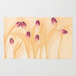 Vintage tulips 2 Rug