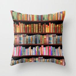 Antique books ft Jane Austen & more Throw Pillow