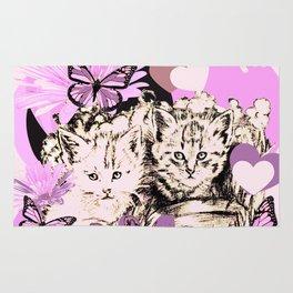 Frieda's Baby Cats in Pink Rug