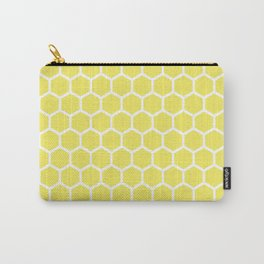 Summery Happy Yellow Honeycomb Pattern - MIX & MATCH Carry-All Pouch