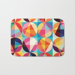 Beautiful colors Geometry, geometric abstract triangles circles squares Bath Mat