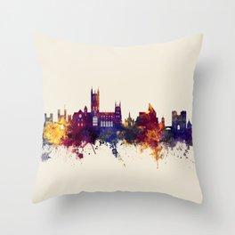 Canterbury England Skyline Throw Pillow