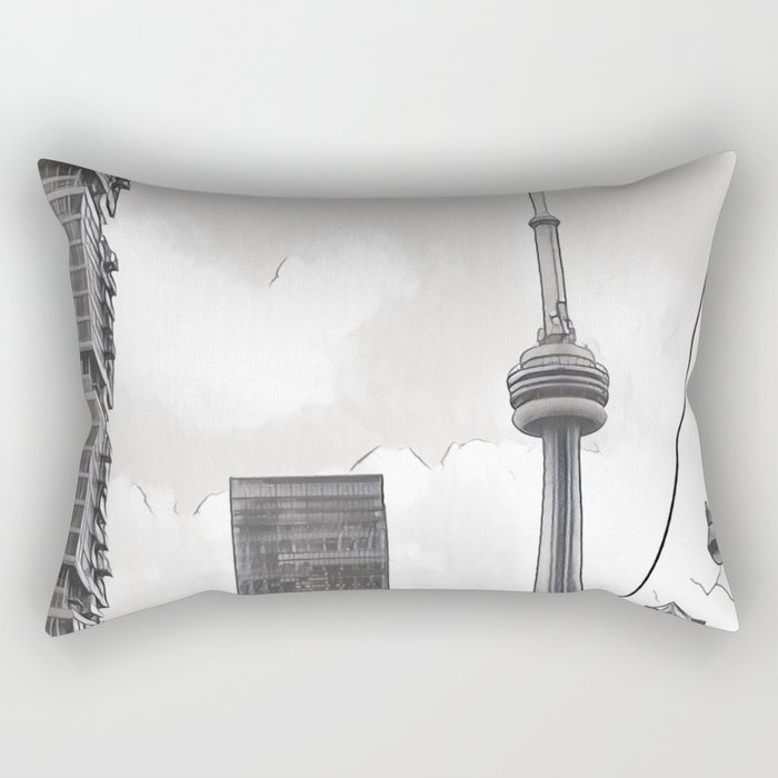 Monochrome Tower Rectangular Pillow