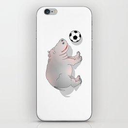 Hippo playing Football iPhone Skin