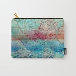Pastel Seashell Mosaic Carry-All Pouch