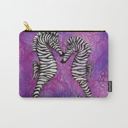 Zebra Seahorses Carry-All Pouch