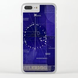 Druids Circle, Castlerigg, Keswick, Cumbria blueprint Clear iPhone Case