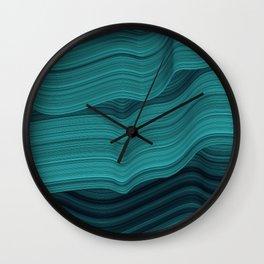 Blue waves Wall Clock
