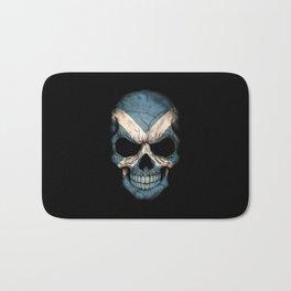 Dark Skull with Flag of Scotland Bath Mat