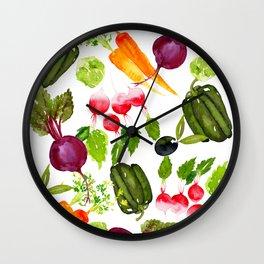 Mixed Vegetables Wall Clock