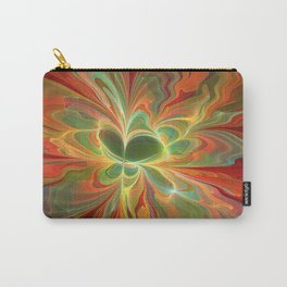 With a lot of Red, Abstract Art Carry-All Pouch