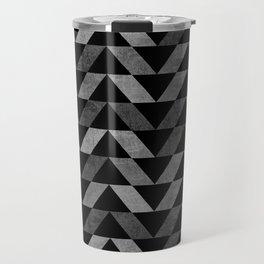 Triangle -Yellow and Grey Travel Mug