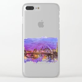 Glasgow Sunset Clear iPhone Case