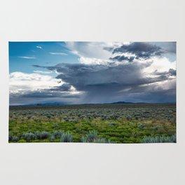 Desert Rain - Summer Thunderstorms Near Taos New Mexico Rug