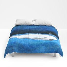 Seastorm over the whale Comforters