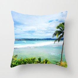 Hanalei Bay Day Throw Pillow
