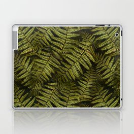Among the ferns in the forest (military green) Laptop & iPad Skin