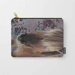floral Icelandic pony Carry-All Pouch