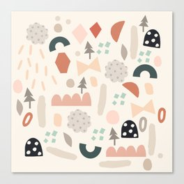 Party Shapes Forest Canvas Print