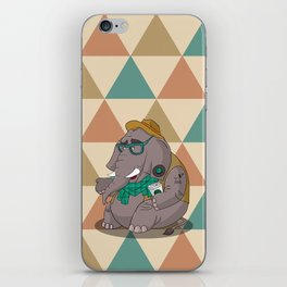 Hipsterphant iPhone Skin