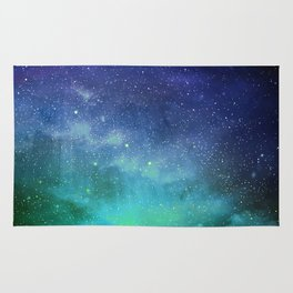 Turquoise Space Rug