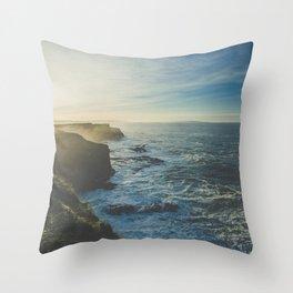 Cliffside Morning Throw Pillow