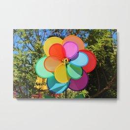 Rainbow Wind Spinner Metal Print