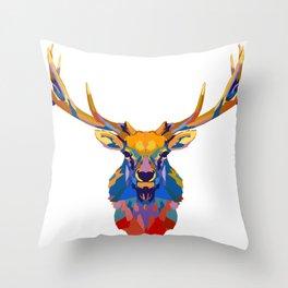 Wild Elk Throw Pillow