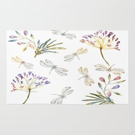 Love Amongst The Dragonflies - Bagaceous Rug