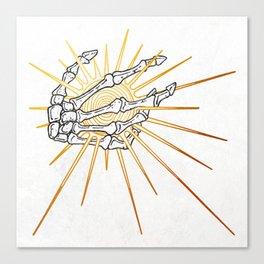 Skeleton Hand Inktober :: Dreadful Fairy Tales Canvas Print