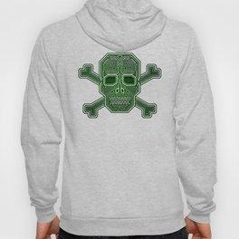 Hacker Skull Crossbones (isolated version) Hoody
