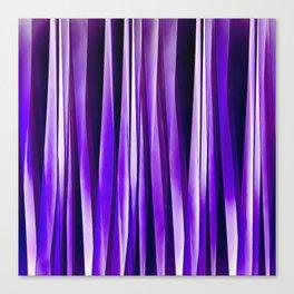 Royal Purple, Lilac and Silver Stripy Pattern Canvas Print