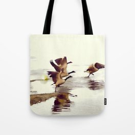 The Take Off - Wild Geese Tote Bag