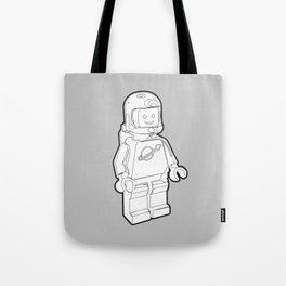 Vintage Spaceman Wireframe Minifig Tote Bag