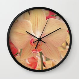 The mystery of orchid (14) Wall Clock