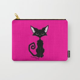 Black Cat - Hot Pink Carry-All Pouch